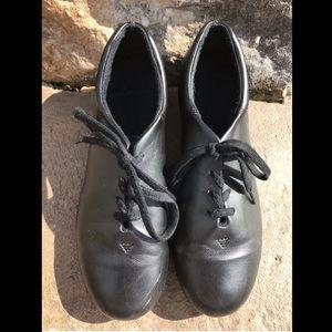 Women's cg17 fluid tap shoes black lace-up taps